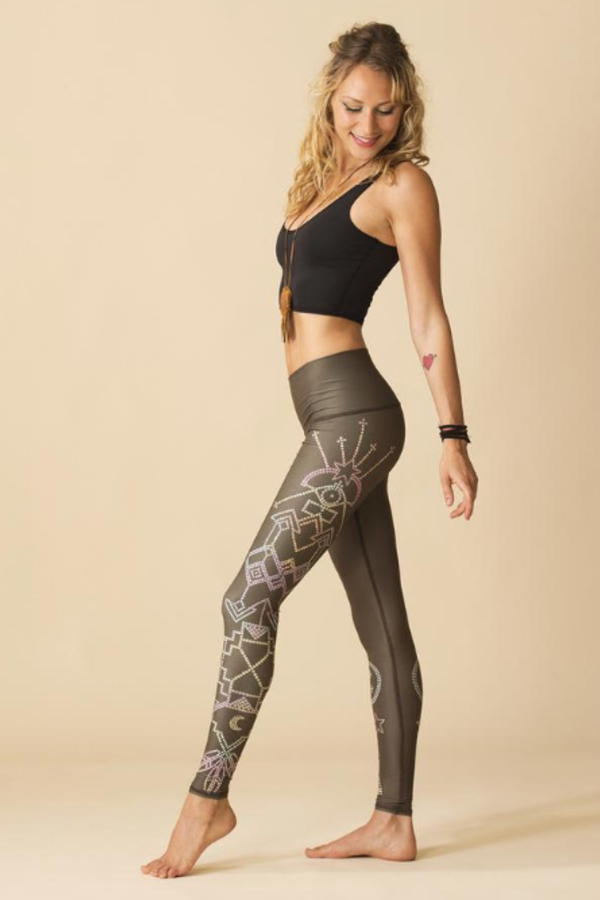 Sea Yogi - Teeki Seven Crowns Leggings for yoga and pilates - Sideview