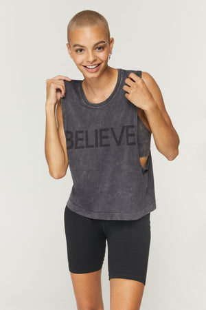 SPIRITUAL GANGSTER  // BELIEVE ACTIVE FLOW TANK - BLACK