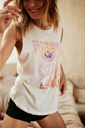 SPIRITUAL GANGSTER  // BE THE LIGHT ROCKER TANK - STONE