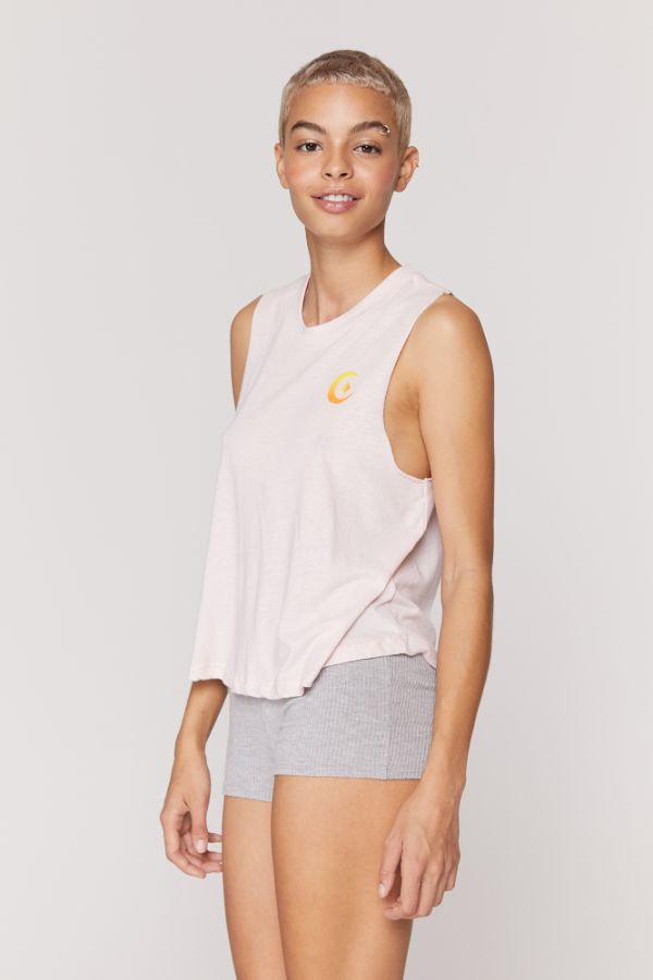 SPIRITUAL GANGSTER  // ENERGY CROP TANK - FADED QUARTZ