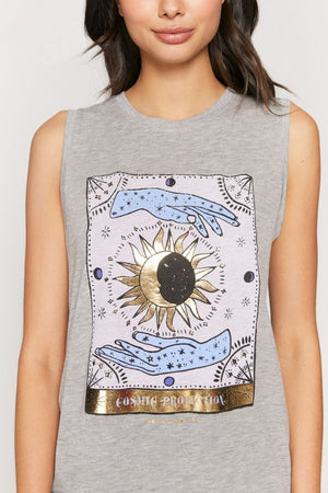 SPIRITUAL GANGSTER  // PROTECTION CHAKRA TANK - MEDIUM HEATHER GREY