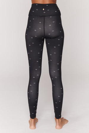 SPIRITUAL GANGSTER  // ESSENTIAL YOGA LEGGINGS - EYE PRINT