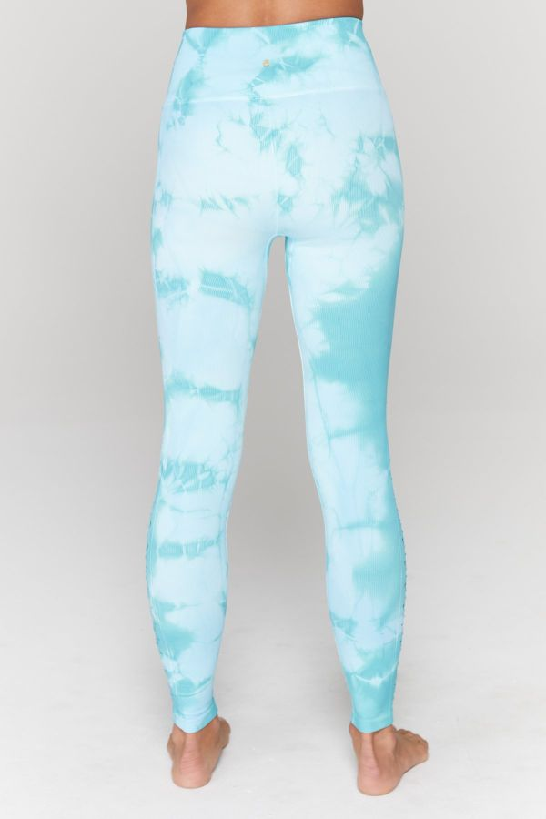 SPIRITUAL GANGSTER  // SELF LOVE YOGA LEGGINGS - ISLAND TIE DYE