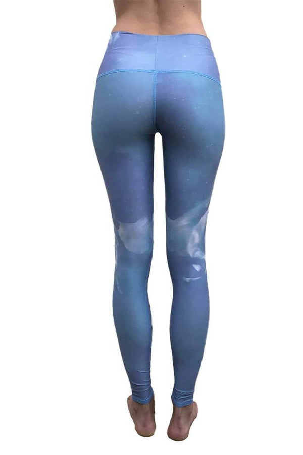 SEA YOGI // High Horses hot pant in Blue by teeki, recycled yoga leggings, Sea Yogi, back