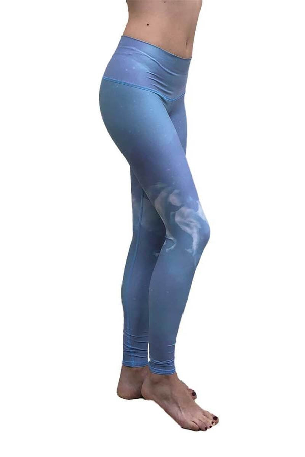 SEA YOGI // High Horses hot pant in Blue by teeki, recycled yoga leggings, Sea Yogi, side