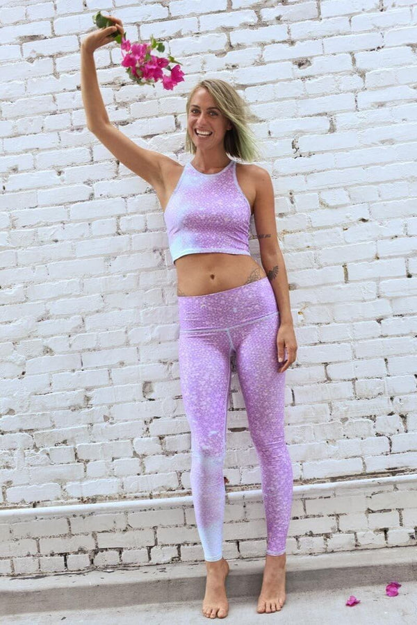 SEA YOGI // Teeki Mermaid Fairyqueen Lavender Legging, front