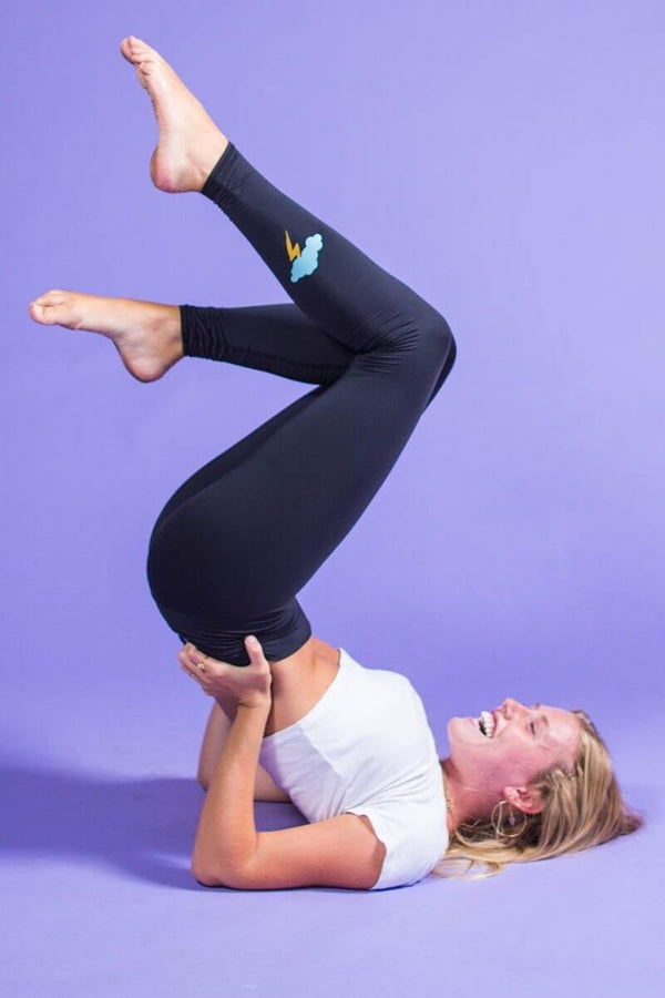 SEA YOGI // Teeki Midnight bandit Hot Pant in Black, left