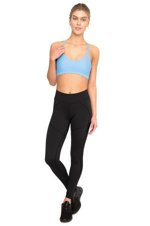 DHARMA BUMS DBX PERFORMANCE COMPRESSION LEGGING IN BLACK AND FRONT IMAGE