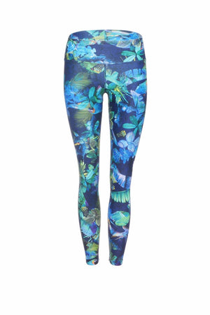 DHARMA BUMS STANDARD WAIST LEGGING IN MYSTIC JUNGLE BACK IMAGE