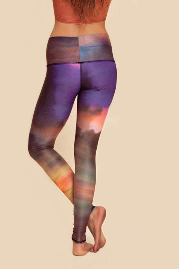 Teeki Deer Medicine Hot Pant in Clouds style and back side image - Sea Yogi