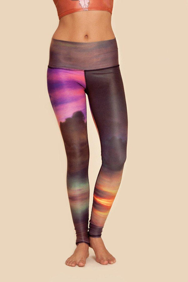 Teeki Deer Medicine Hot Pant in Clouds style and front image - Sea Yogi