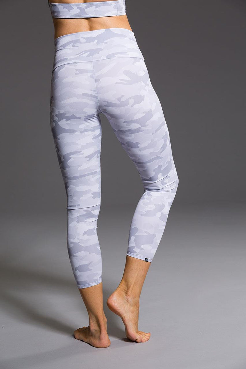 Onzie // High basic midi legging in Gray camo - back image - Sea Yogi