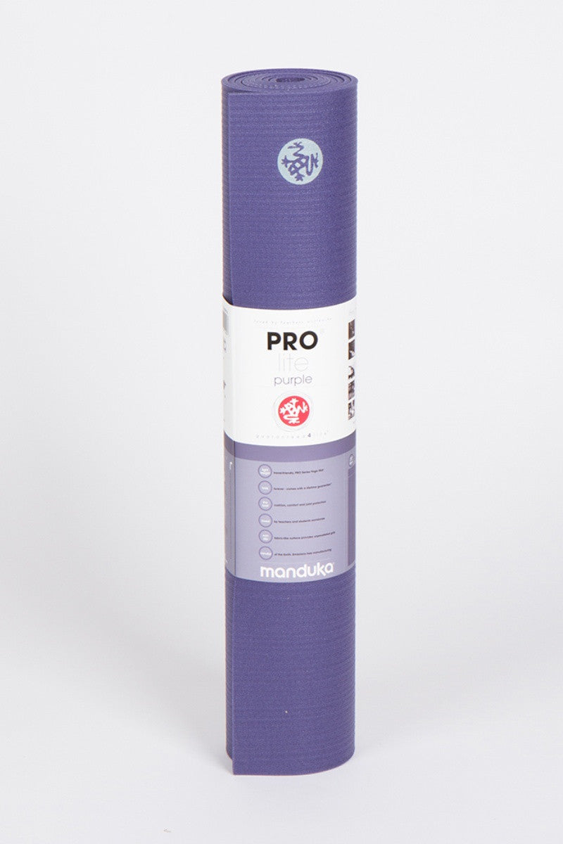 MANDUKA PROLITE YOGA MAT IN PURPLE AND FRONT FACING IMAGE