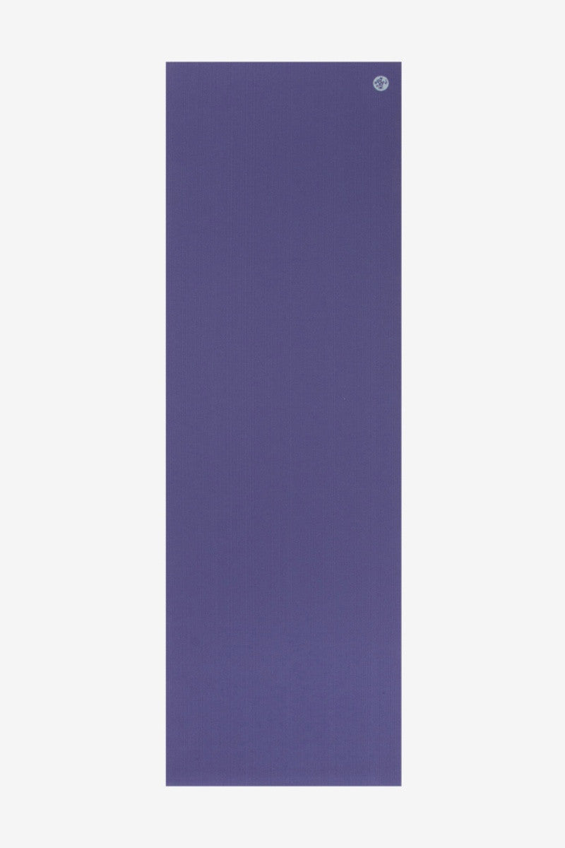 MANDUKA PROLITE YOGA MAT IN PURPLE AND SPREAD OUT IMAGE
