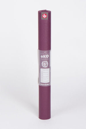 Manduka eKO SuperLite Yoga mat, 1kg only and Acai style, standing image