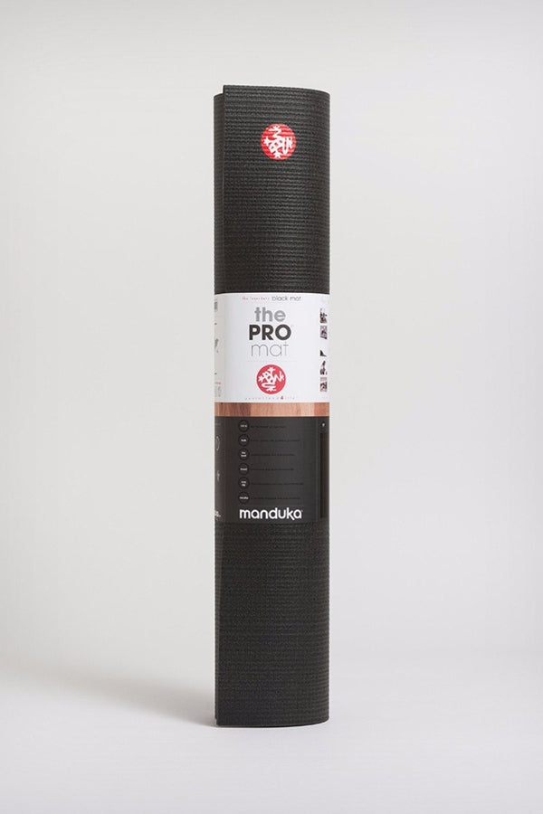 Manduka Pro Mat Black in 5mm and standing image