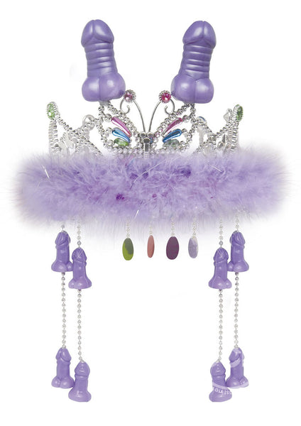 Bachelorette Party Favors Tiara With Hanging Peckers
