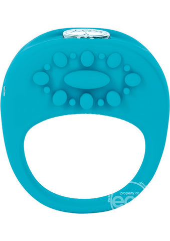 Key Ela Rechargeable Vibrating Silicone Ring Waterproof