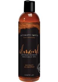 Intimate Earth Aromatherapy Massage Oil Honey Almond 4 Ounces