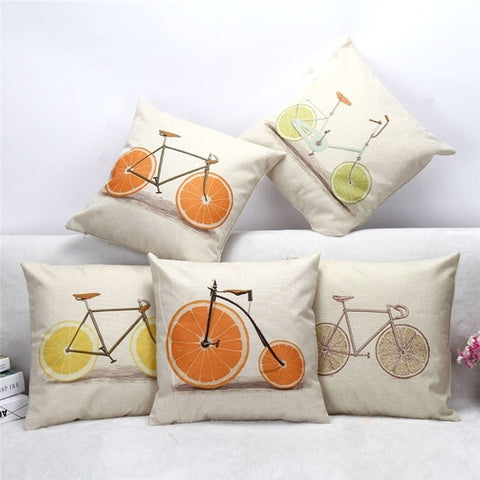 ALL FIVE Linen Throw Pillow Covers SET with FREE SHIPPING