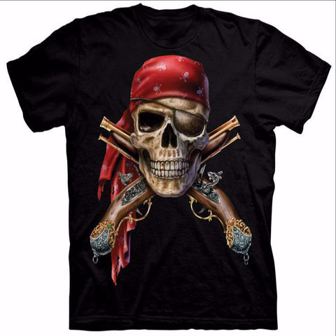Crazy Pirate Skeleton T-Shirt