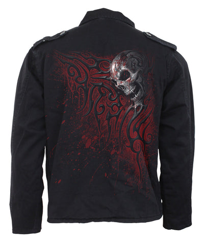 Dripping Skull Jacket with Hood