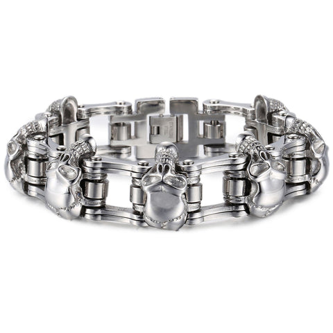 The Linked Skulls Bracelet