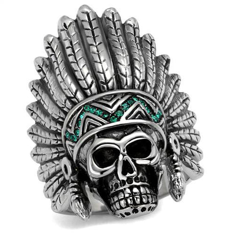 Masterfully Designed Stainless Steel Chief Skull Ring