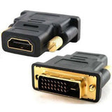DVI to HDMI DEIM Gold-Plated DVI to HDMI HDTV Male to Female Adapter 24+1