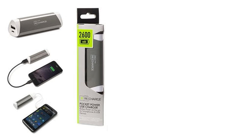 Portable Power On the Go - 2600 MAH