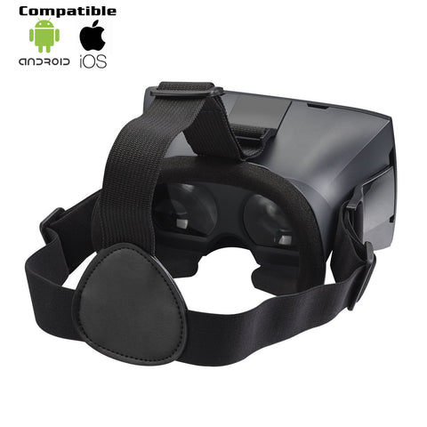 DEIM 3D Virtual Reality Headset Universal Virtual Reality - Black