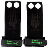 Bear KompleX 2 Hole Hand Grips | Black Suede | WOD Gear UK | RXROX