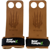Bear KompleX 2 Hole Hand Grips | Tan Leather | WOD Gear UK | RXROX