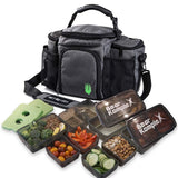 Insulated Meal Prep Lunch Bag | Black | WOD Gear UK | RXROX