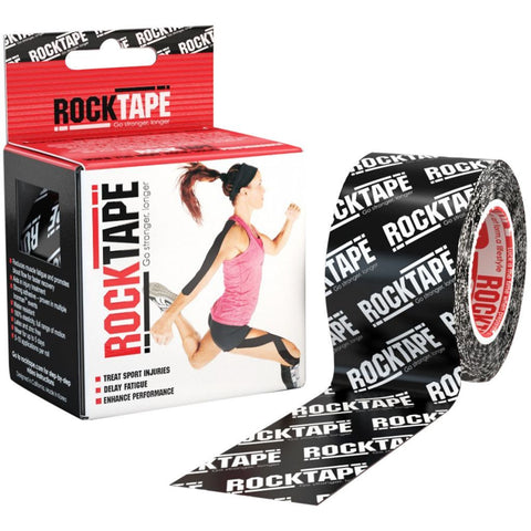 RockTape Kinesiology Tape | 5cm x 5m | Black Logo | WOD Gear UK | RXROX
