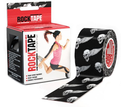 RockTape Kinesiology Tape | 5cm x 5m | Black Skull | WOD Gear UK | RXROX