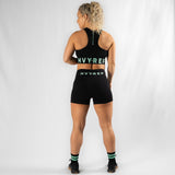 High Riser HVY REP Black / Neo Mint Sports Bra