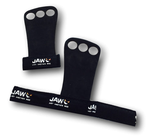 JAW Leather Pull-up Grips | Black | WOD Gear UK | RXROX