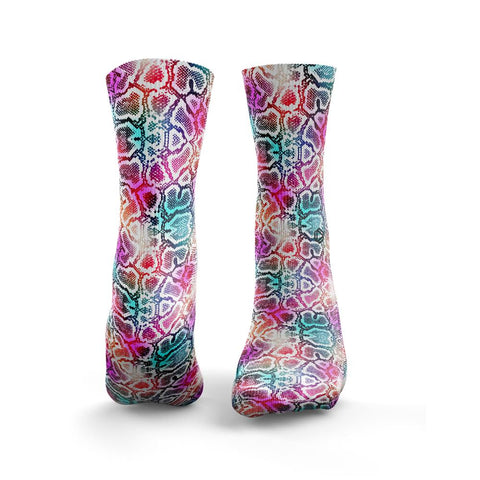 HEXXEE Multicolour Snakeskin Socks