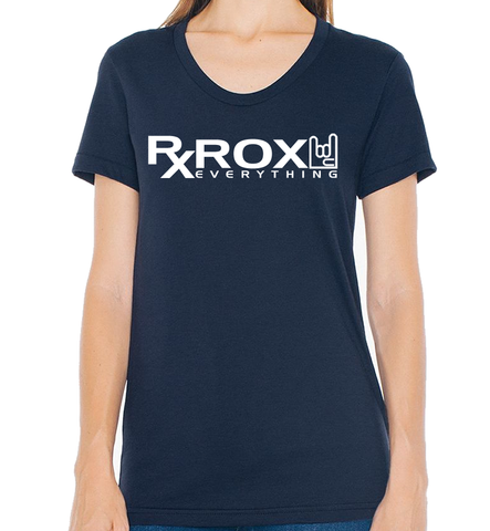 Women's WOD Proof Emblem T-Shirt | Navy | WOD Gear UK | RXROX