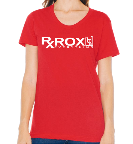 Women's WOD Proof Emblem T-Shirt | Red | WOD Gear UK | RXROX