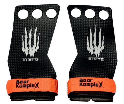 Bear KompleX Carbon Comp Grips | 3 Hole | WOD Gear UK | RXROX