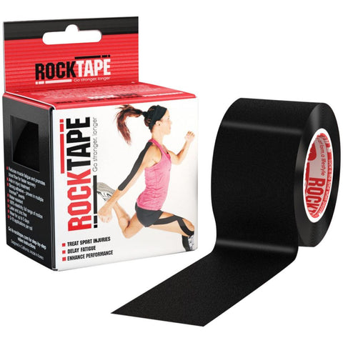 RockTape Kinesiology Tape | 5cm x 5m | Black | WOD Gear UK | RXROX