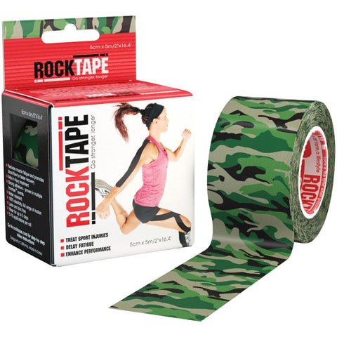 RockTape Kinesiology Tape | 5cm x 5m | Camo Green | WOD Gear UK | RXROX