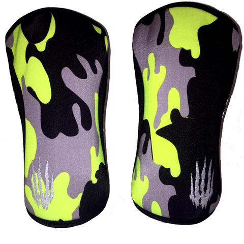 Bear KompleX Knee Supports 5mm | Neon Yellow (Pair) | WOD Gear UK | RXROX