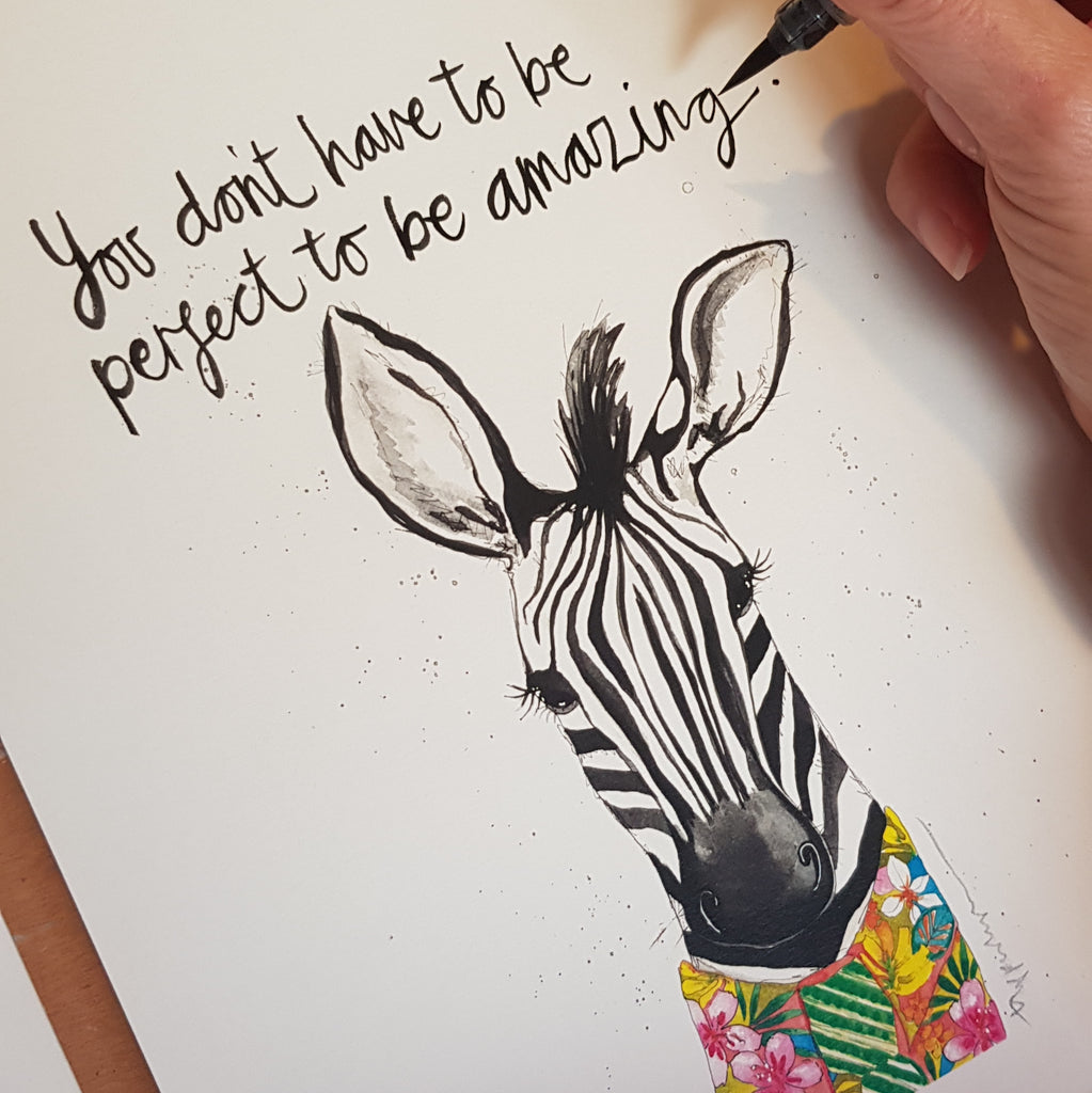 Animal art, Parker the Zebra