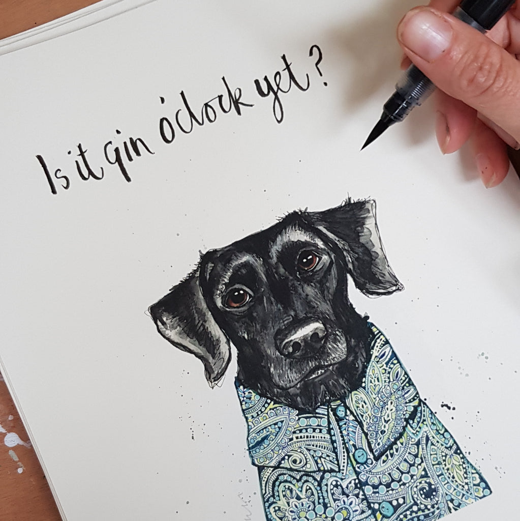 Animal art, Skip the Black Labrador