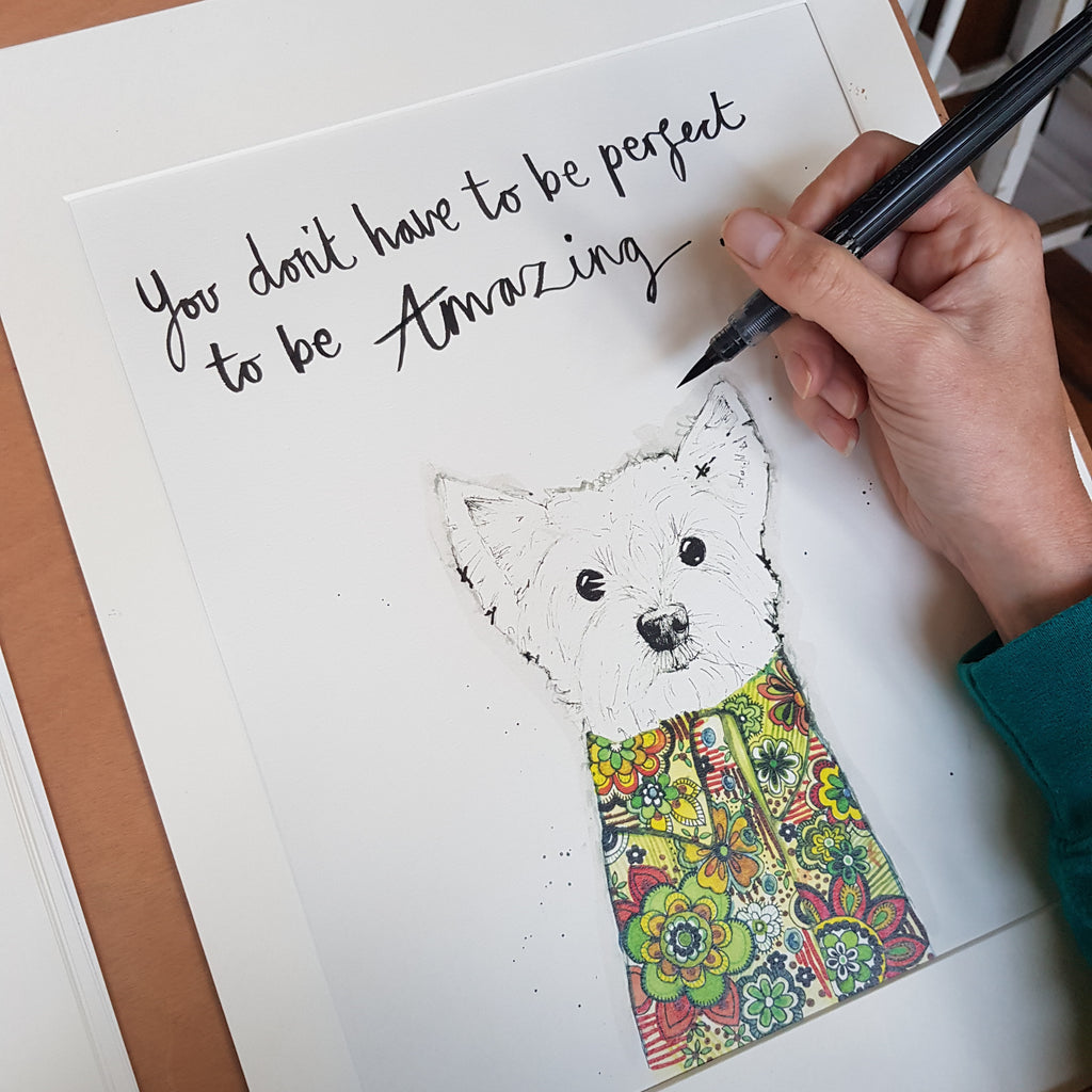 Animal art, Dillon the Westie dog