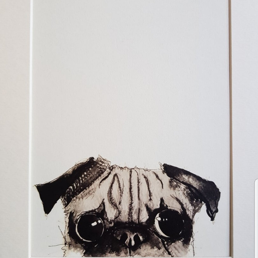 Animal art, Pug eyes ( filthy animal )