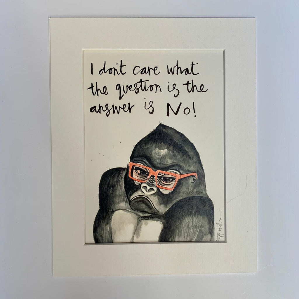 Animal Art, Phil the grumpy gorilla